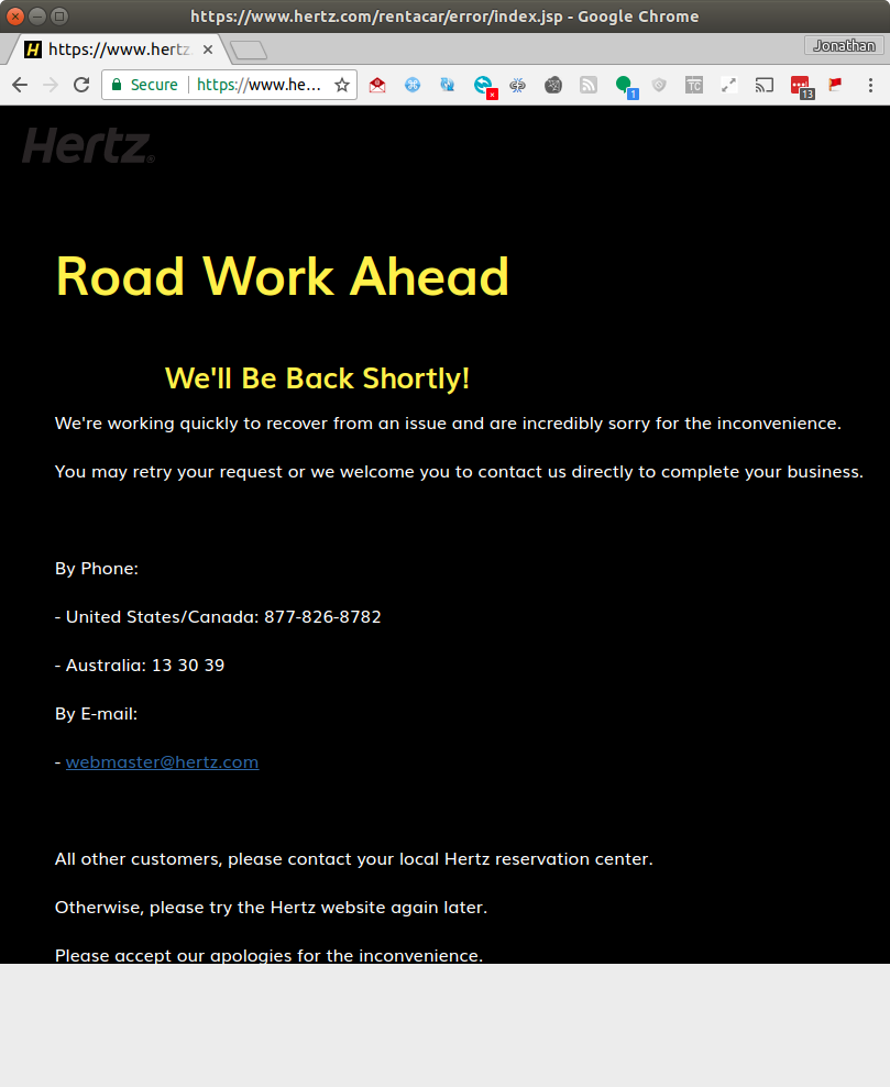 """Hertz: """"Reservation""""? I Don't Think It Means What You"""